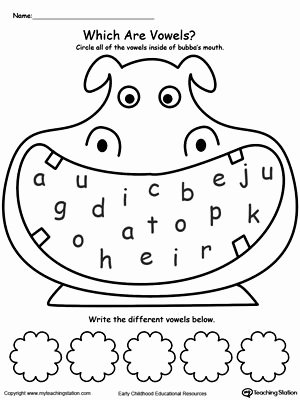 Worksheets for Preschoolers On Vowels Lovely Short A sound Worksheet