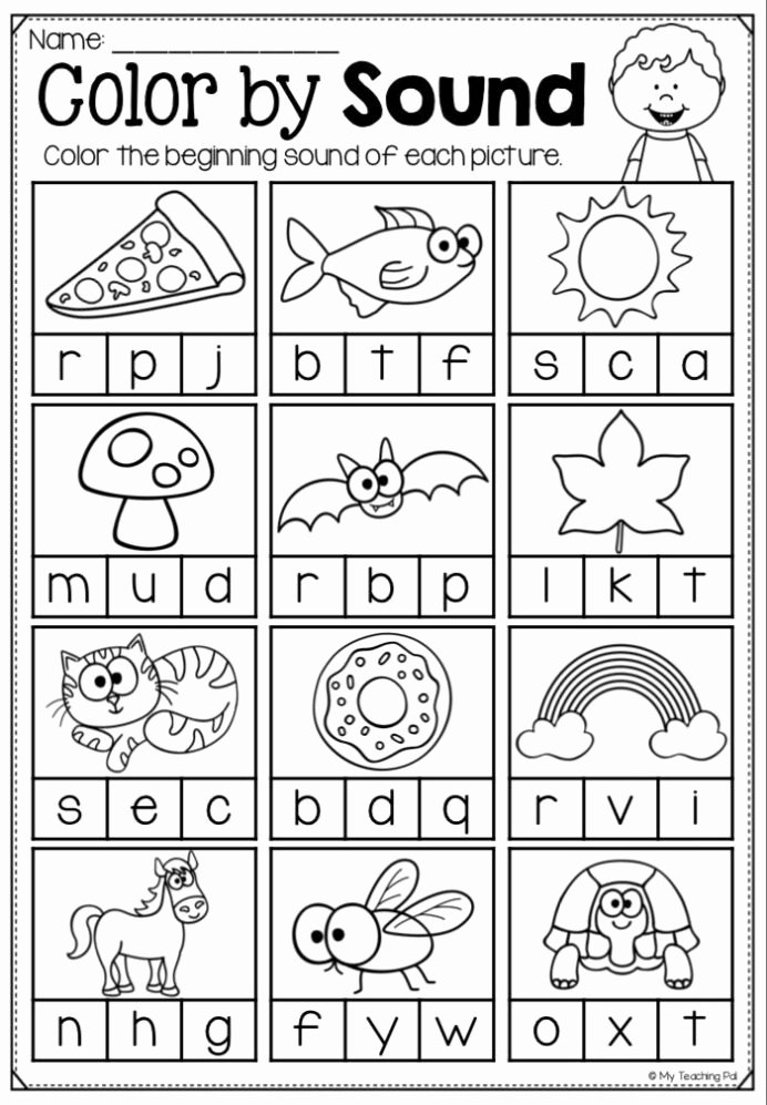 Worksheets for Preschoolers Phonics Fresh Beginning sounds Pack Worksheets and Gumball Game Phonics