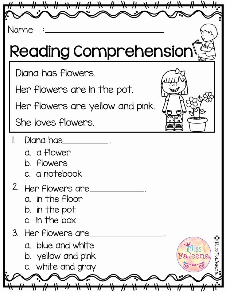 Worksheets for Preschoolers Reading Fresh Free Reading Prehension