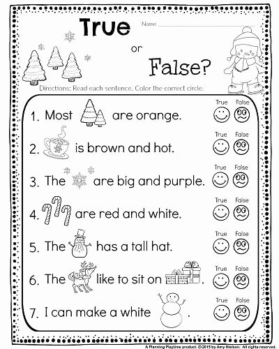 Worksheets for Preschoolers Reading Lovely Kindergarten Math and Literacy Worksheets for December