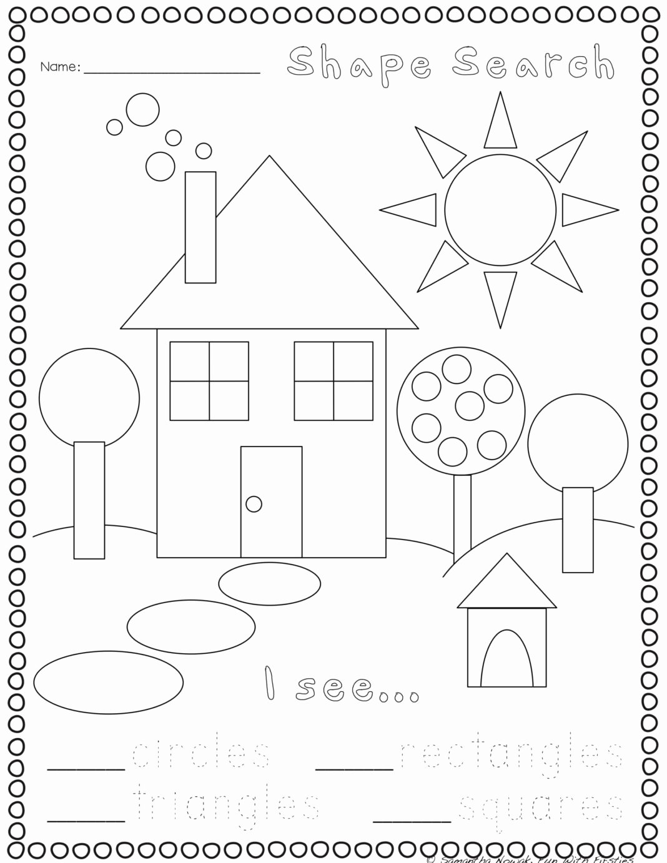 Worksheets for Preschoolers Shapes Fresh Worksheets Print Go Geometry Practice Worksheets Preschool