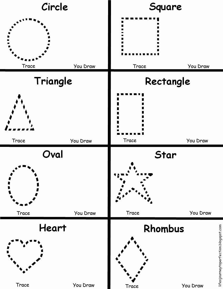 Worksheets for Preschoolers Shapes New Preschool Shapes Worksheet
