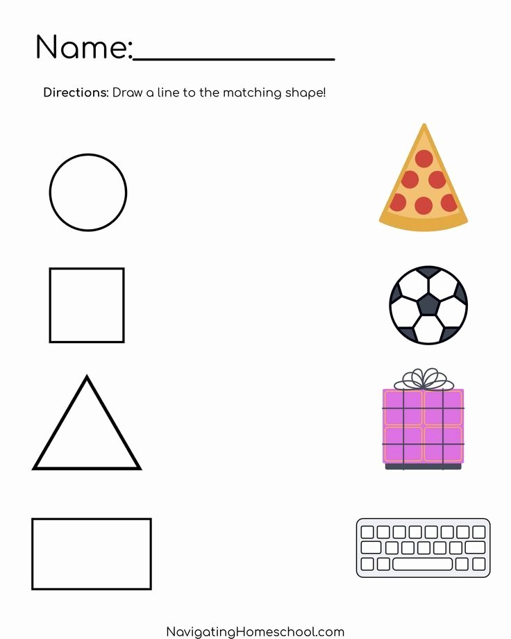 Worksheets for Preschoolers Shapes top Practice Shape Recognition with This Free Shape Worksheet