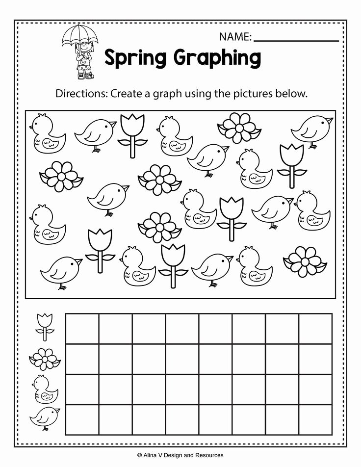 Worksheets for Preschoolers Spring Inspirational Spring Graphing Spring Math Worksheets and Activities for