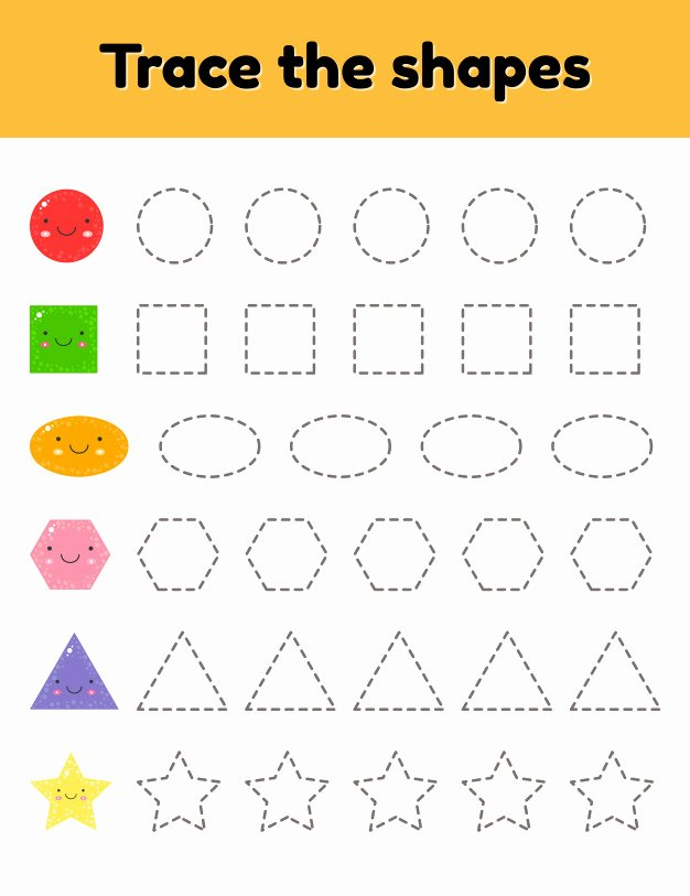 Worksheets for Preschoolers Tracing Best Of Vector Illustration Educational Tracing Worksheet for Kids