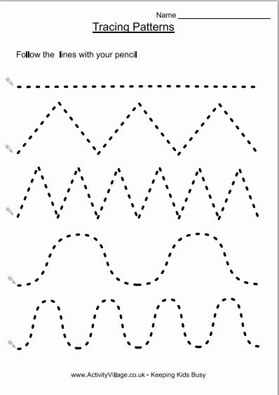 Worksheets for Preschoolers Tracing Kids Preparing for School Pre Writing Printables