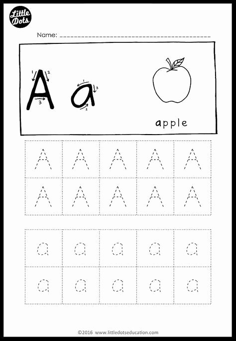Worksheets for Preschoolers Tracing Letters Printable Alphabet Tracing Activities for Letter A to Z