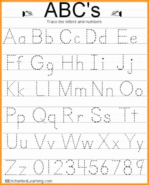 Worksheets for Preschoolers Tracing Letters top Lowercase Tracing Worksheet Kindergarten Alphabet Worksheets