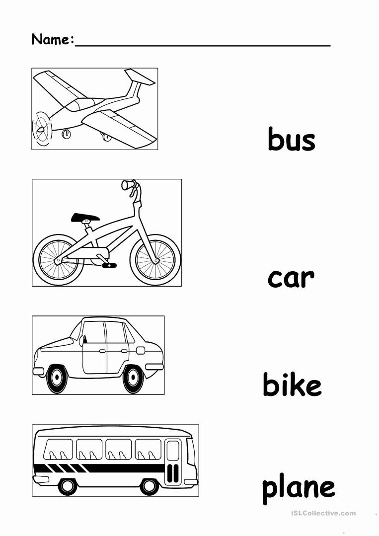 Worksheets for Preschoolers Transportation Fresh Transportation English Esl Worksheets for Distance
