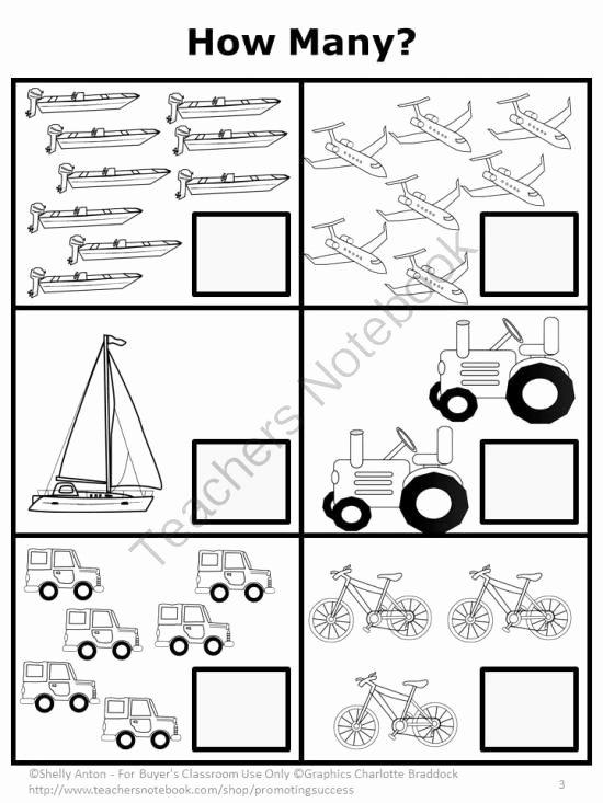 Worksheets for Preschoolers Transportation Ideas Teachers Notebook