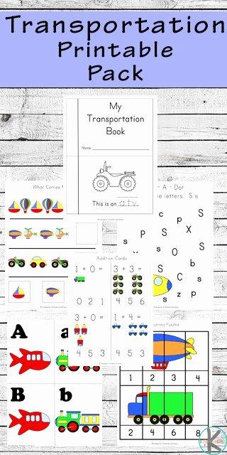 Worksheets for Preschoolers Transportation Printable 85 Free Transportation Worksheets