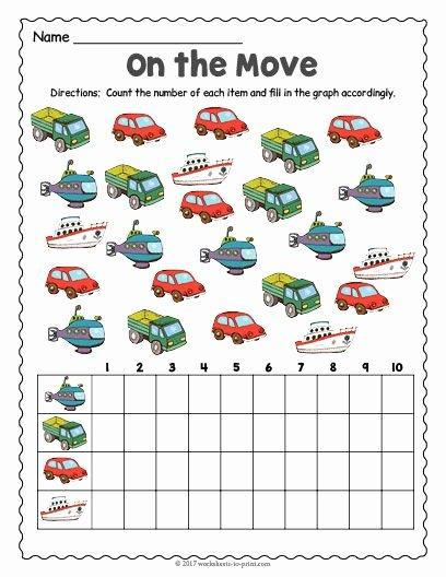 Worksheets for Preschoolers Transportation top Free Printable Transportation Count and Graph Worksheet