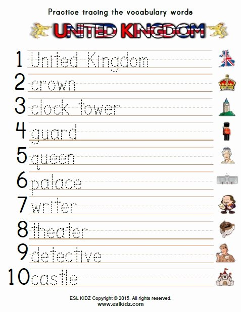 Worksheets for Preschoolers Uk Inspirational United Kingdom Worksheets Activities Games and