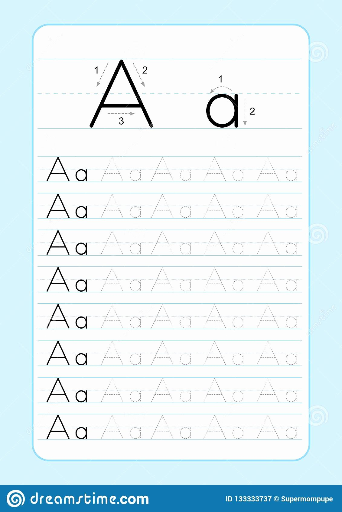 Writing Abc Worksheets for Preschoolers Ideas Alphabet Letters Tracing Worksheet with Letter Practice