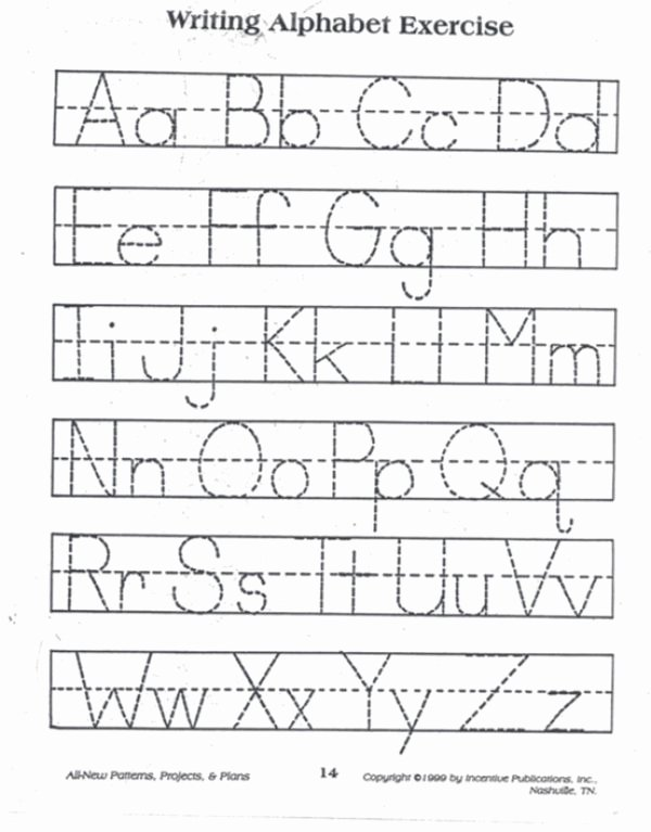 Writing Abc Worksheets for Preschoolers Kids Practice Tracing the Alphabet with This Simple Reproducible