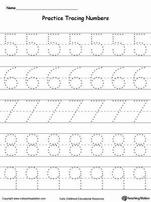 Writing Numbers Worksheets for Preschoolers Printable Practice Tracing Numbers 5 9
