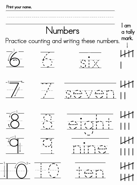 Writing Numbers Worksheets for Preschoolers top Number Worksheets