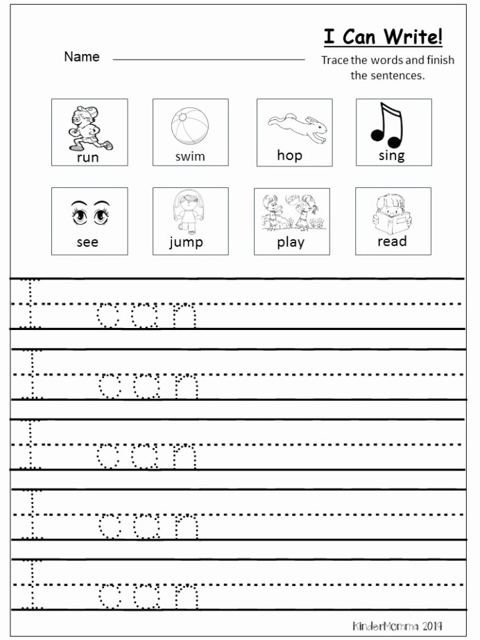 Writing Worksheets for Preschoolers Fresh Free Writing Printable Kindergarten and First Grade