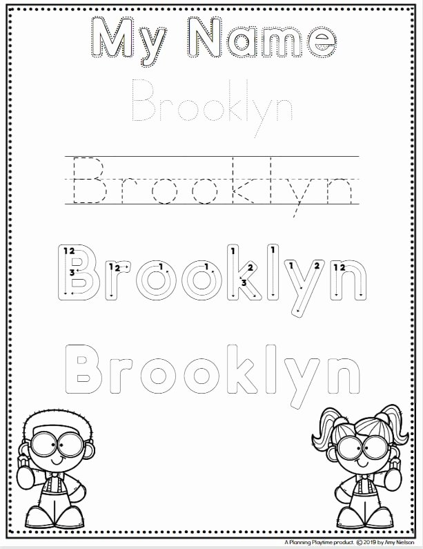Writing Worksheets for Preschoolers Name top Name Tracing Worksheets Planning Playtime Preschool for