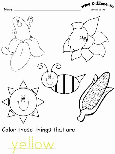 Yellow Worksheets for Preschoolers Fresh Yellow Color Worksheet