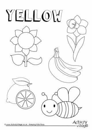 Yellow Worksheets for Preschoolers top Colour Collection Colouring Pages