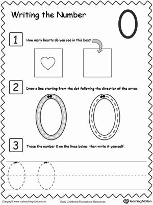 Zero Worksheets for Preschoolers Free Count and Write the Number Of Objects