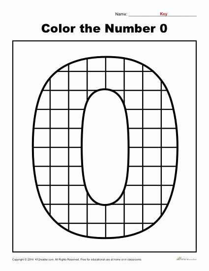 Zero Worksheets for Preschoolers Inspirational Color the Number 0 Preschool Number Worksheet