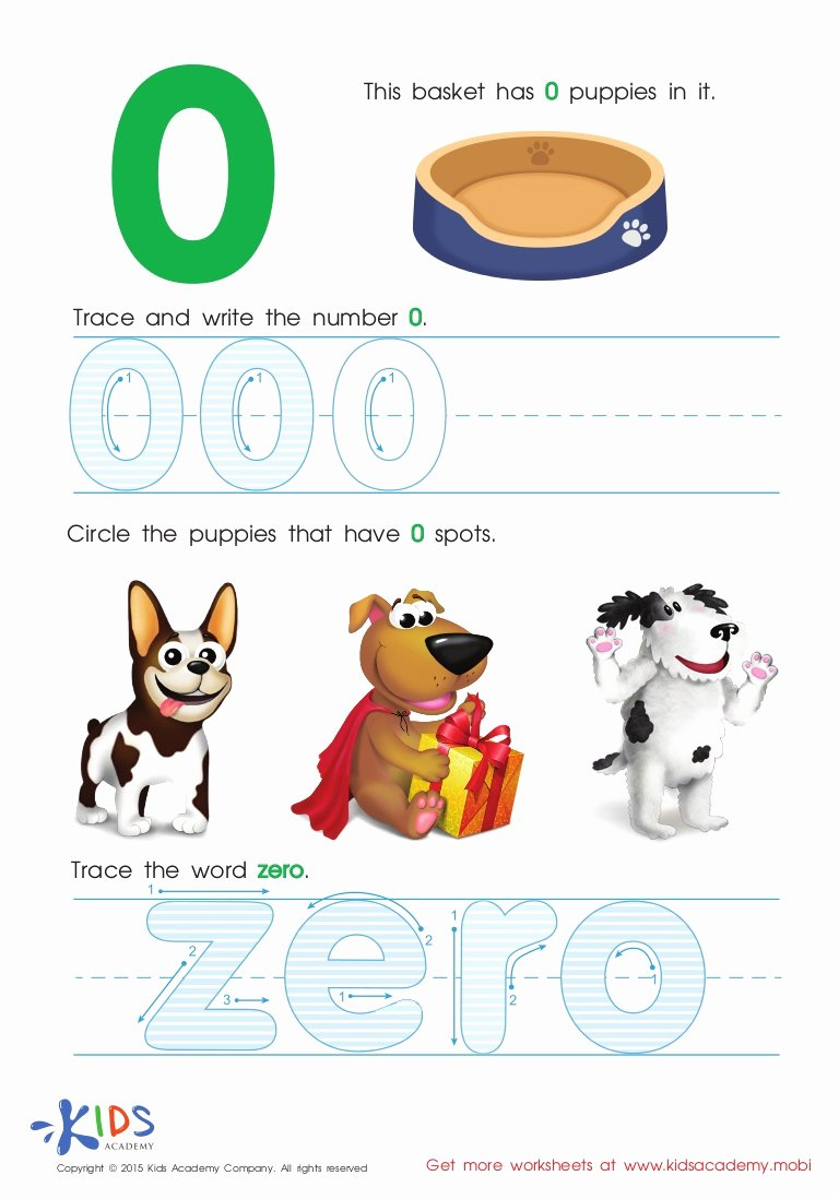 Zero Worksheets for Preschoolers New Printable Math Worksheets for Preschool and Kindergarten Kids