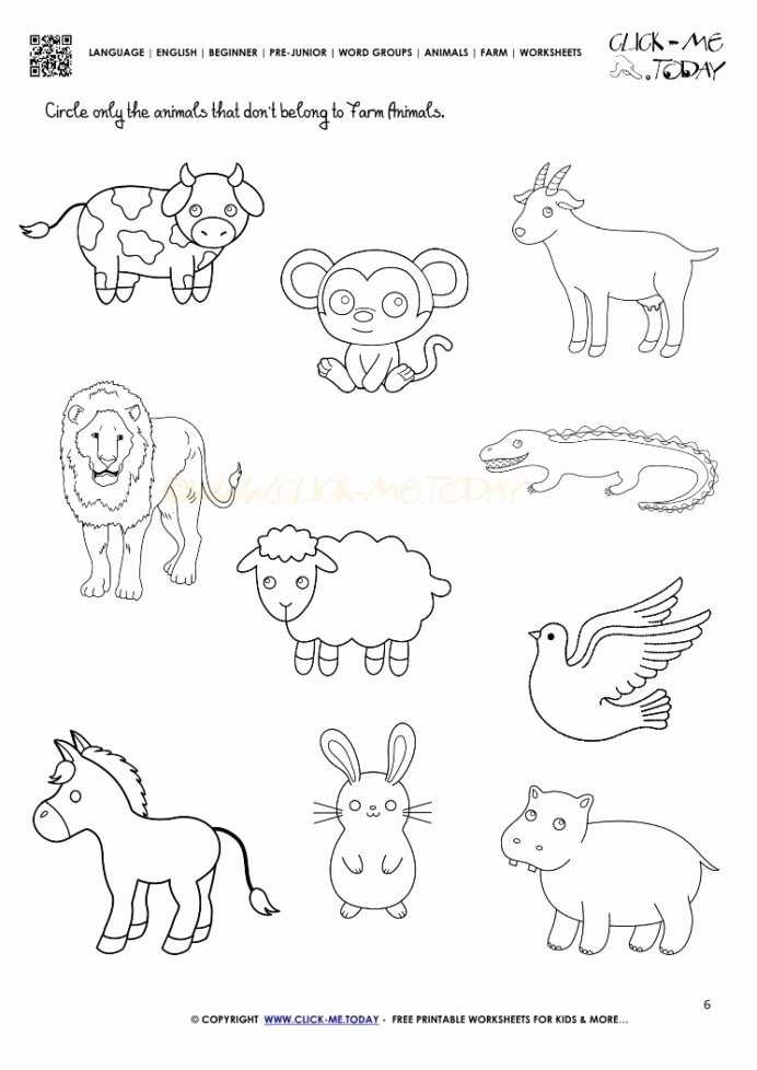 Zoo Animal Worksheets for Preschoolers Inspirational Farm Animals Worksheet Activity Sheet Animal Worksheets Zoo