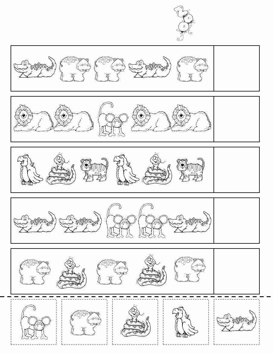 Zoo themed Worksheets for Preschoolers Fresh Zoo Patterns Scribd