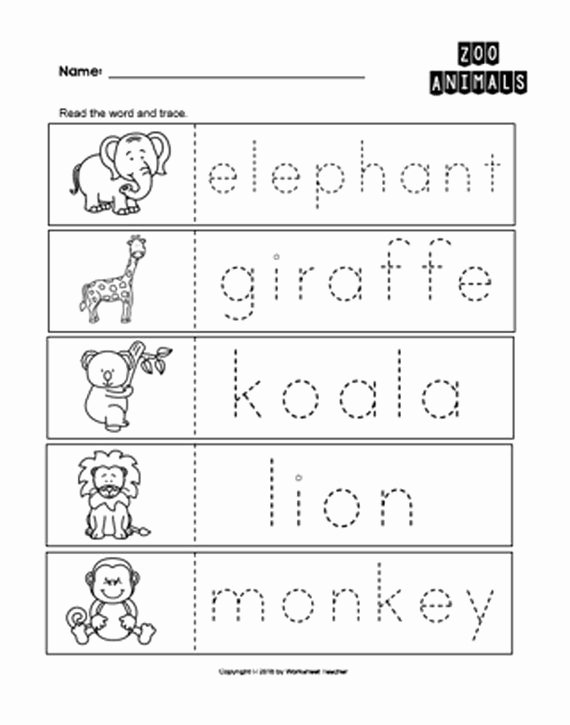 Zoo Worksheets for Preschoolers Printable 25 Zoo Animals Preschool Curriculum Activities