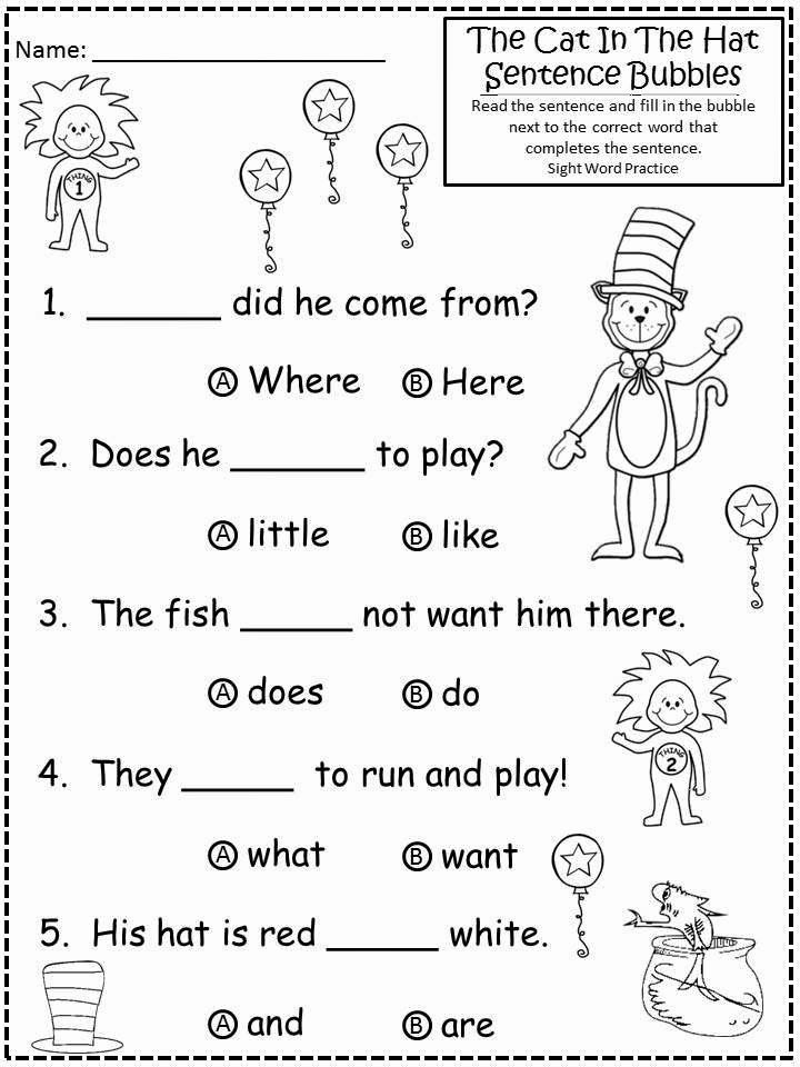 Cat In the Hat Worksheets for Preschoolers Ideas My Apologies to Dr Seuss