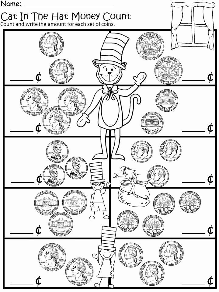 Cat In the Hat Worksheets for Preschoolers Kids March Into March with More Cat In the Hat