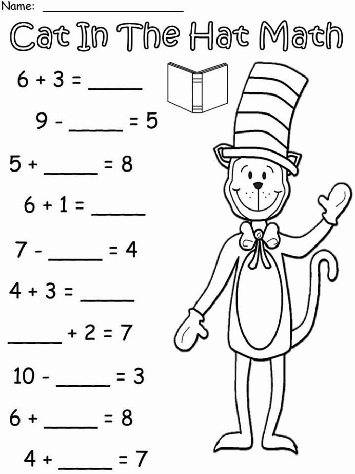 Cat In the Hat Worksheets for Preschoolers Lovely March Into with More Cat In the Hat Dr Seuss Crafts Free