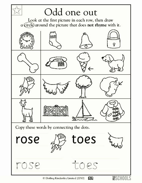 Circle the Odd One Out Worksheets for Preschoolers New Odd E Out Worksheet for Pre K Kindergarten
