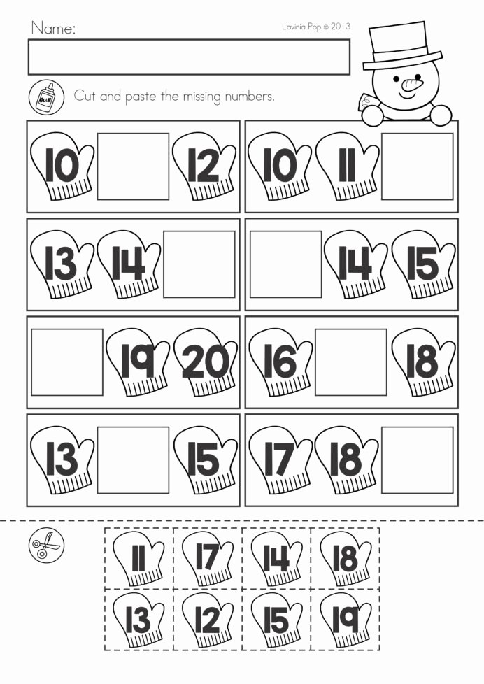 Cut and Paste Math Worksheets for Preschoolers Best Of Winter Math Worksheets Activities No Prep Cut and Paste