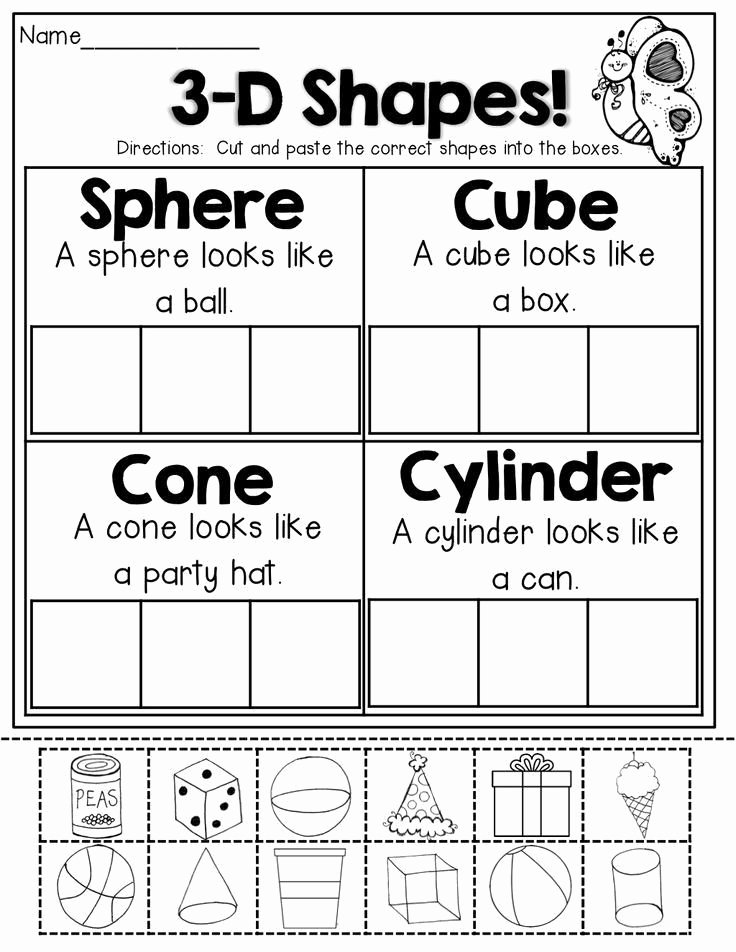 Cut and Paste Math Worksheets for Preschoolers Inspirational Pin On Education