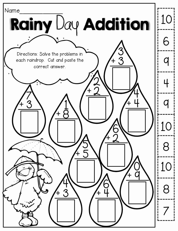 Cut and Paste Math Worksheets for Preschoolers Kids Pin On Education
