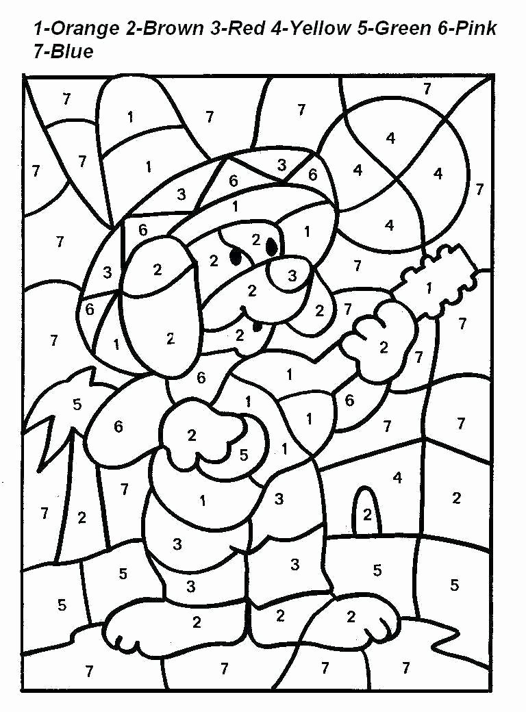 Free Color by Number Worksheets for Preschoolers Fresh Uncategorized Coloring Pages with Numbers Monte Color by