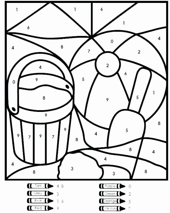 Free Color by Number Worksheets for Preschoolers Lovely Easy Color by Number for Preschool and Kindergarten