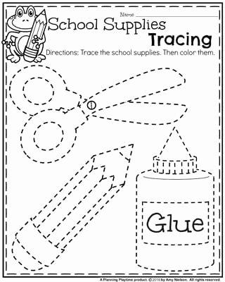 Free Printable Back to School Worksheets for Preschoolers Inspirational Back to School Preschool Worksheets Planning Playtime