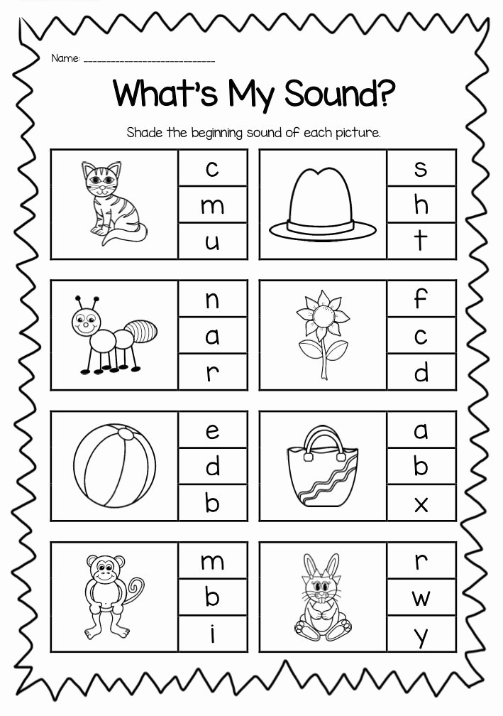 Free Printable Beginning sounds Worksheets for Preschoolers Best Of Beginning sounds Printable Worksheet Pack Kindergarten
