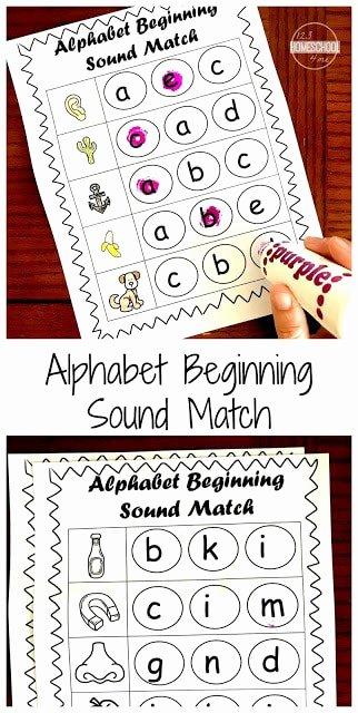 Free Printable Beginning sounds Worksheets for Preschoolers Inspirational Free Beginning sounds Worksheets