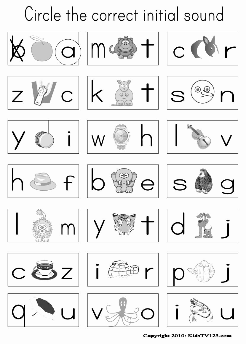 Free Printable Beginning sounds Worksheets for Preschoolers Kids Image Result for Jolly Phonics Worksheets Printables