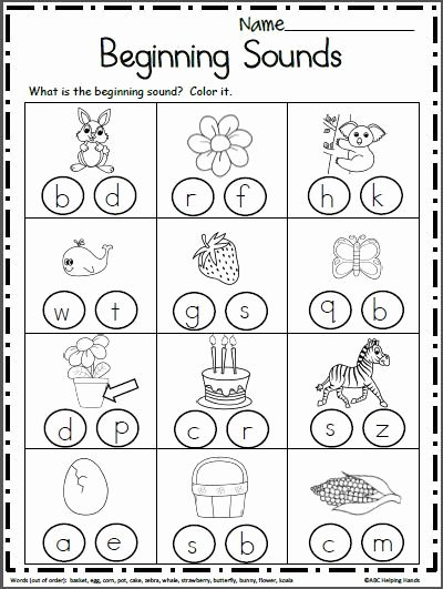 Free Printable Beginning sounds Worksheets for Preschoolers Lovely Free Beginning sounds Worksheets Primary Number Practice for
