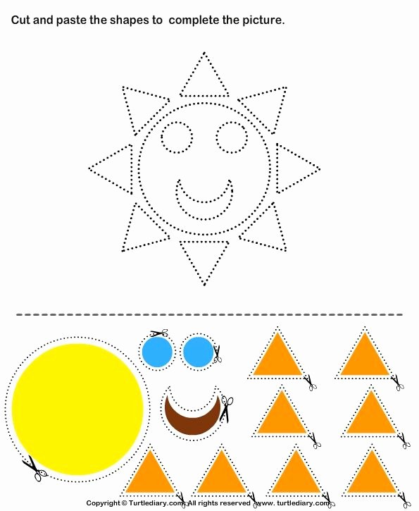 Free Printable Cut and Paste Worksheets for Preschoolers Free Pin On Kindergarten Study