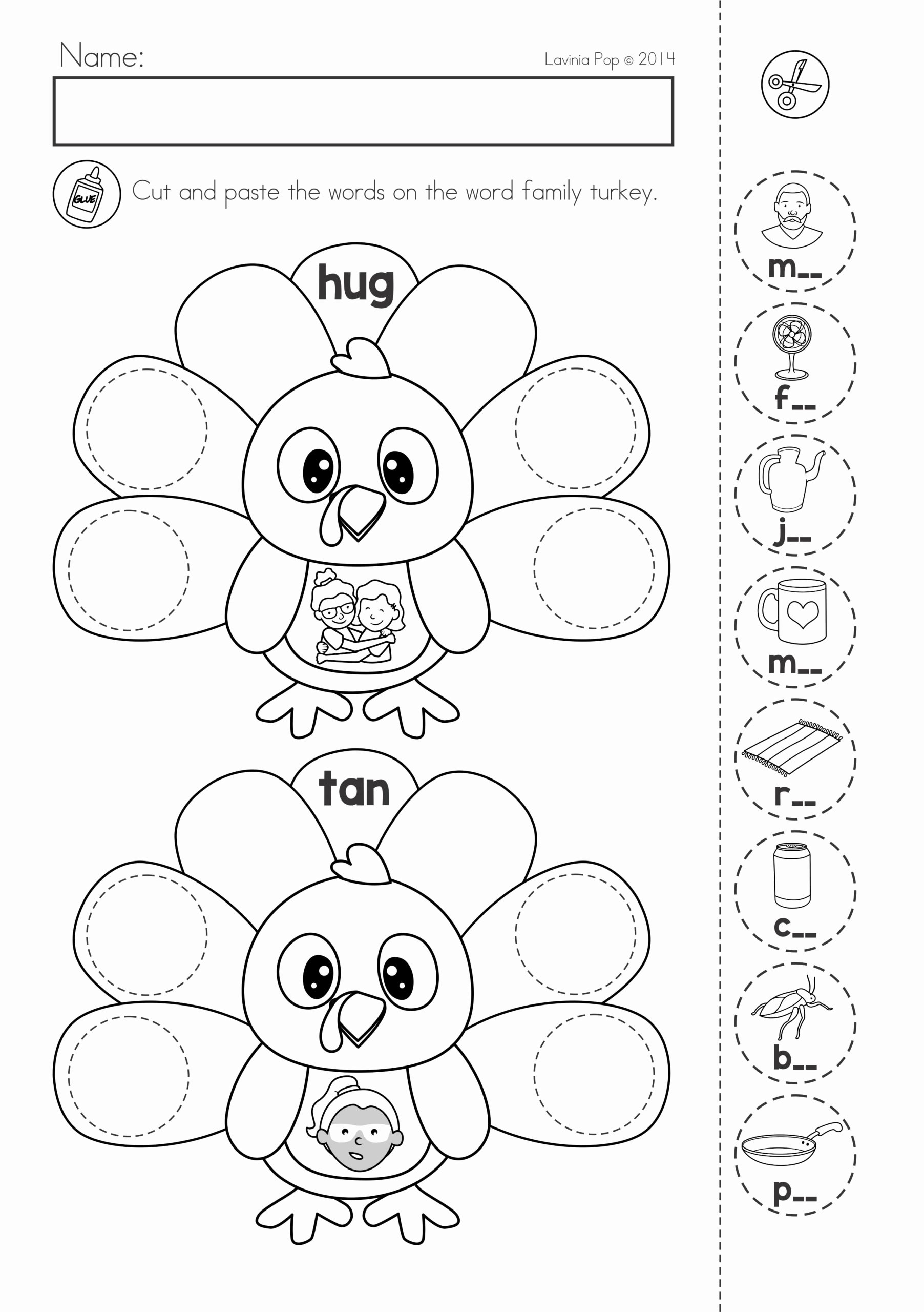 Free Printable Cut and Paste Worksheets for Preschoolers Kids Free Preschool Printables Cut and Paste Worksheet Four Line