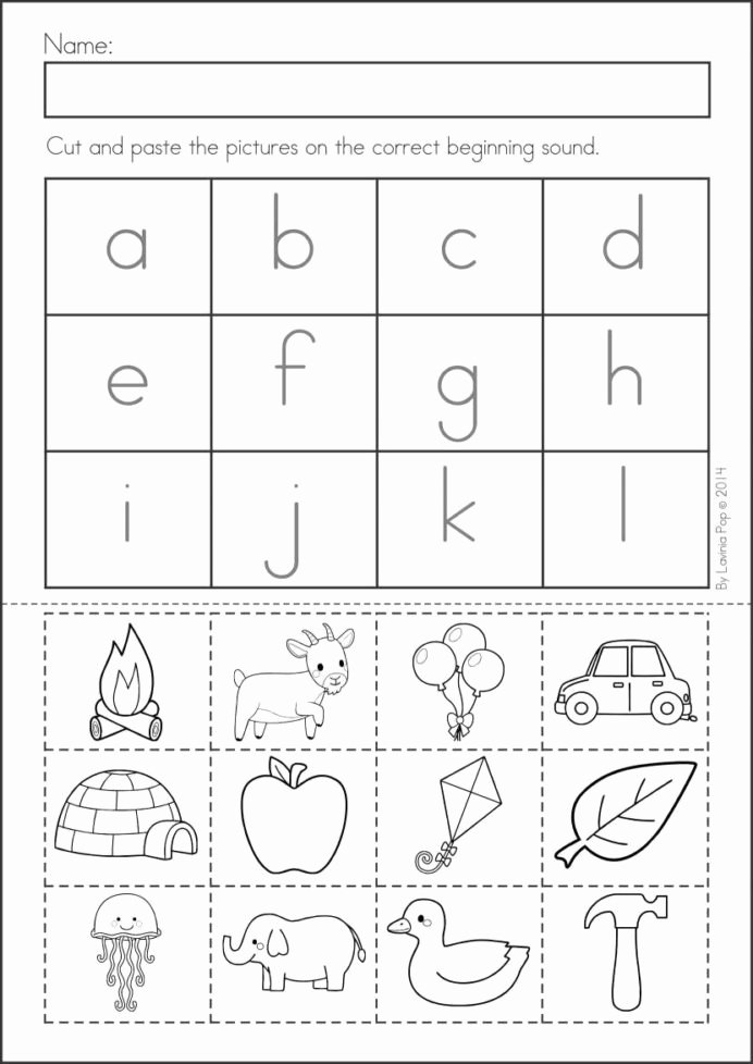 Free Printable Cut and Paste Worksheets for Preschoolers Printable Pin Alphabet Activities Cut and Glue Worksheets Free