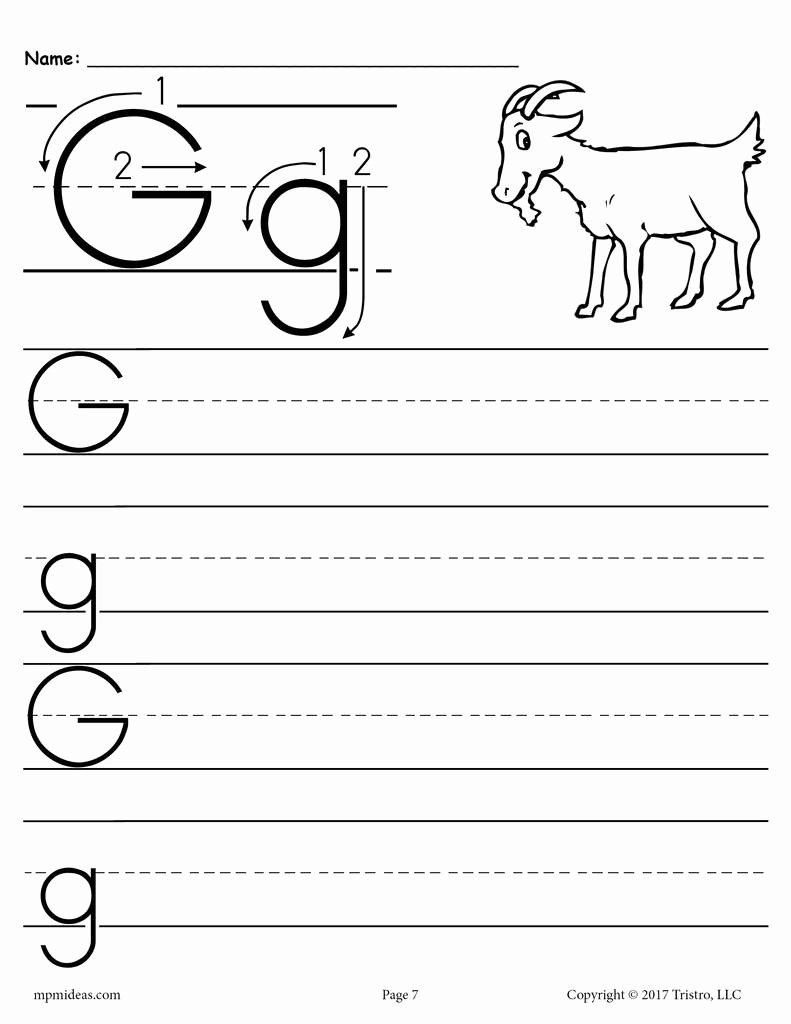 Free Printable Letter G Worksheets for Preschoolers Best Of Worksheet 1print Preschool Handwriting Blank7 1024x1024