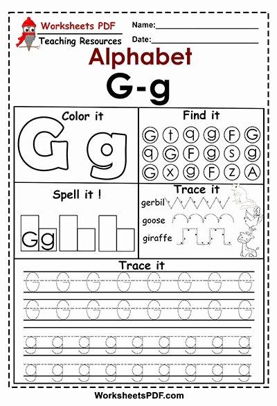 Free Printable Letter G Worksheets for Preschoolers Free Letter G G Activities – Free Printables Worksheets Pdf